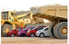 VW Up 1.0, Kia Picanto 1.2, Renault Twingo 1.2, Fiat Panda 0.9 Twinair, Seitenansicht