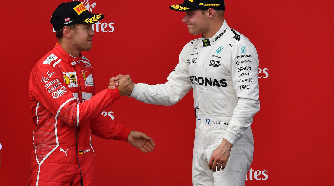 Valtteri Bottas - Sebastian Vettel - GP Österreich 2017 - Spielberg - Rennen