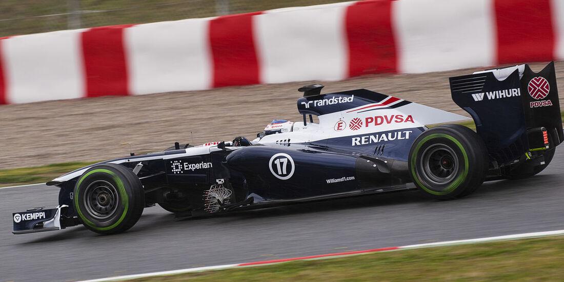 Valtteri Bottas, Williams, Formel 1-Test, Barcelona, 28. Februar 2013