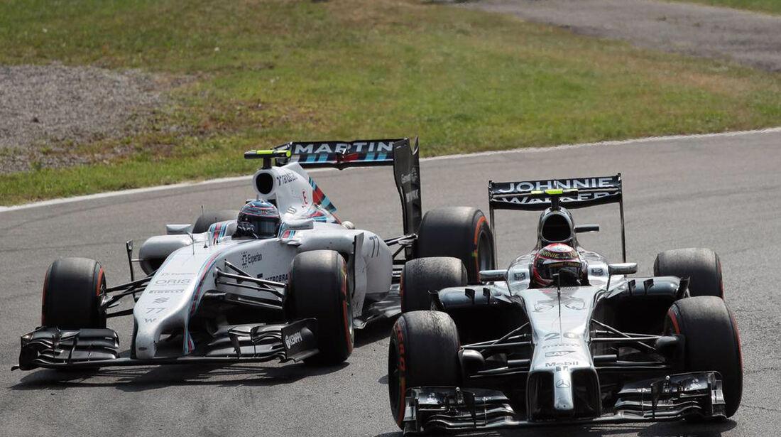 Valtteri Bottas  - Williams - Jenson Button - McLaren - Formel 1 - GP Italien - 7. September 2014