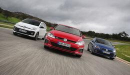 Vergleich VW Golf GTI, Polo GTI, Up GTI (2018)
