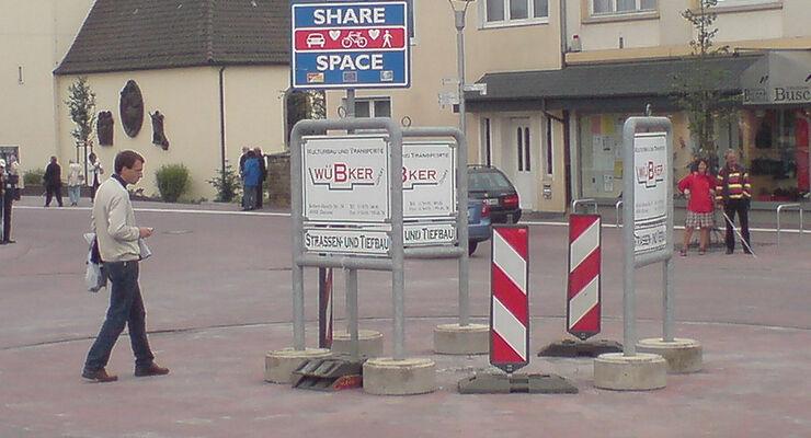 Verkehrsberuhigung Shared Space