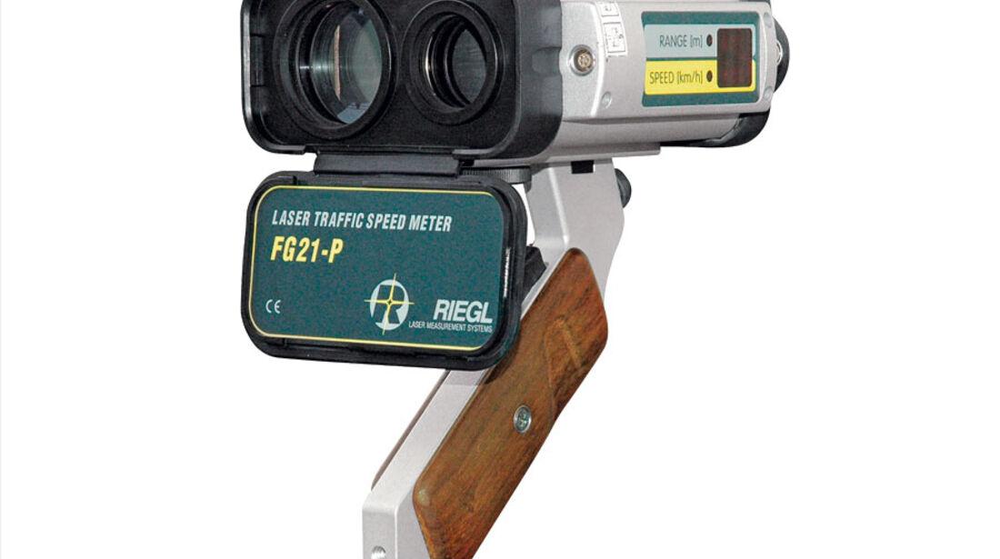 Verkehrsüberwachung, Laserpistole