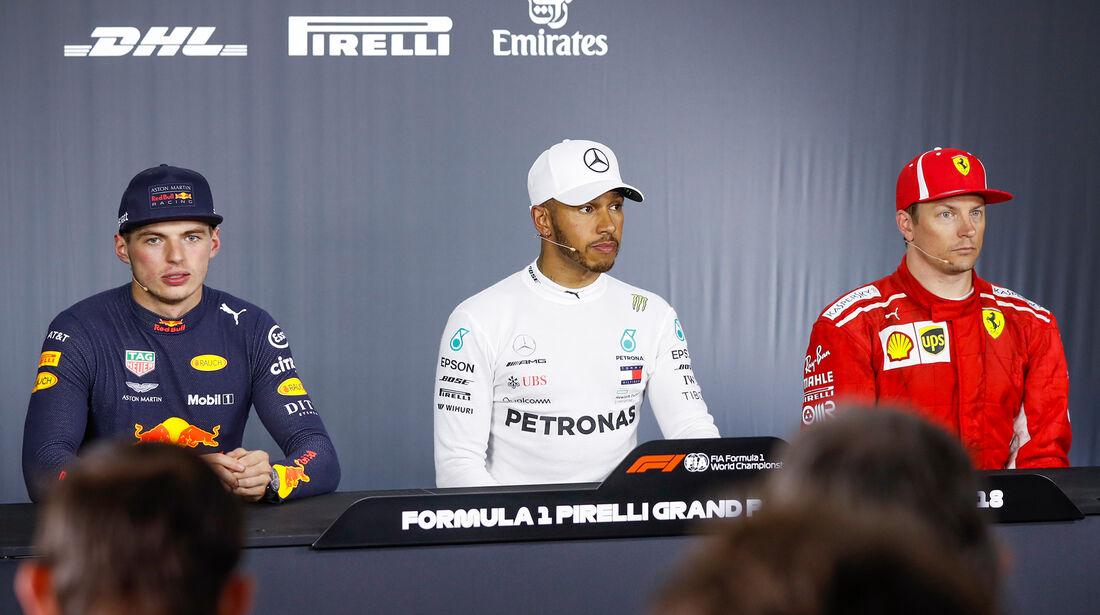 Verstappen, Hamilton & Räikkönen - GP Frankreich 2018