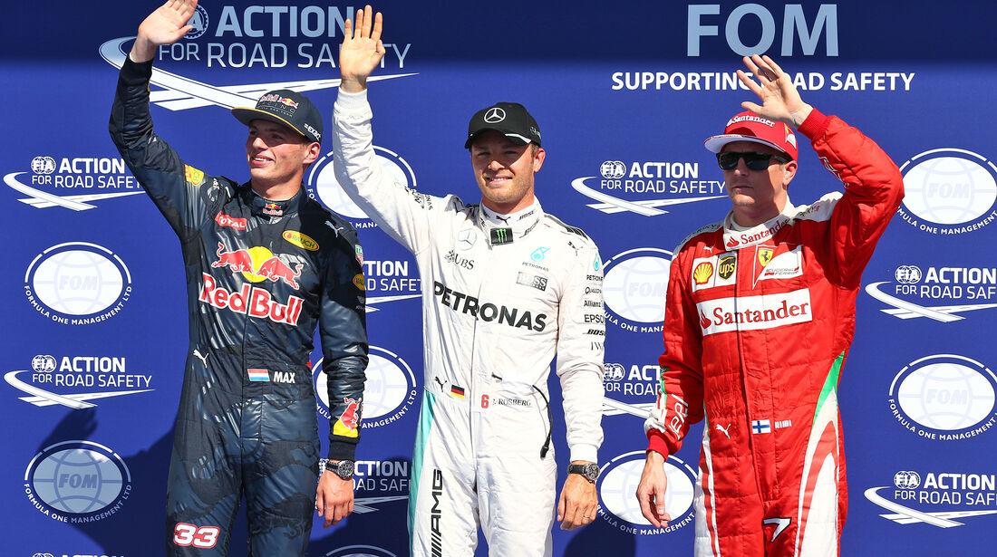 Verstappen, Rosberg & Räikkönen - Formel 1 - GP Belgien - Spa-Francorchamps - 27. August 2016