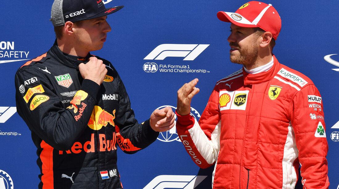 Verstappen & Vettel - Formel 1 - GP Kanada - Montreal - 9. Juni 2018