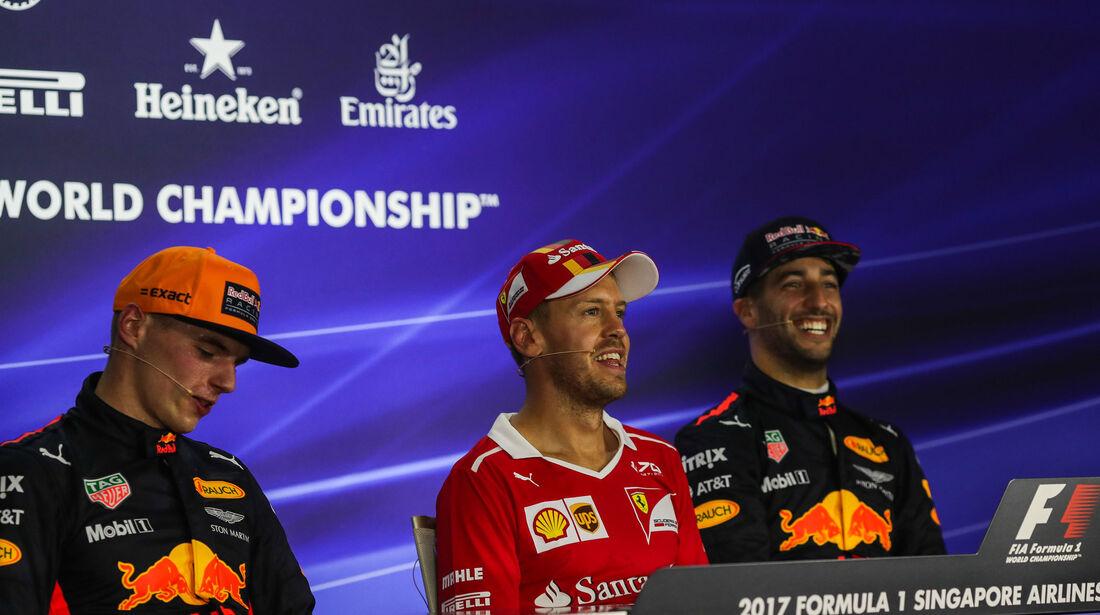 Verstappen - Vettel - Ricciardo - GP Singapur - Qualifying