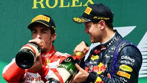 Vettel & Alonso - GP Kanada 2013