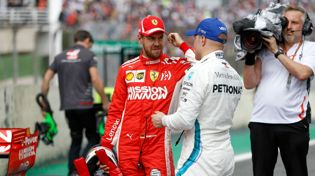 Vettel - Bottas - GP Brasilien - Interlagos - Formel 1 - Samstag - 10.11.2018