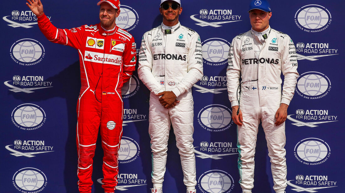 Vettel, Bottas & Hamilton - Formel 1 - GP Belgien - Spa-Francorchamps - 26. August 2017