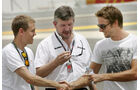 Vettel, Button & Brawn