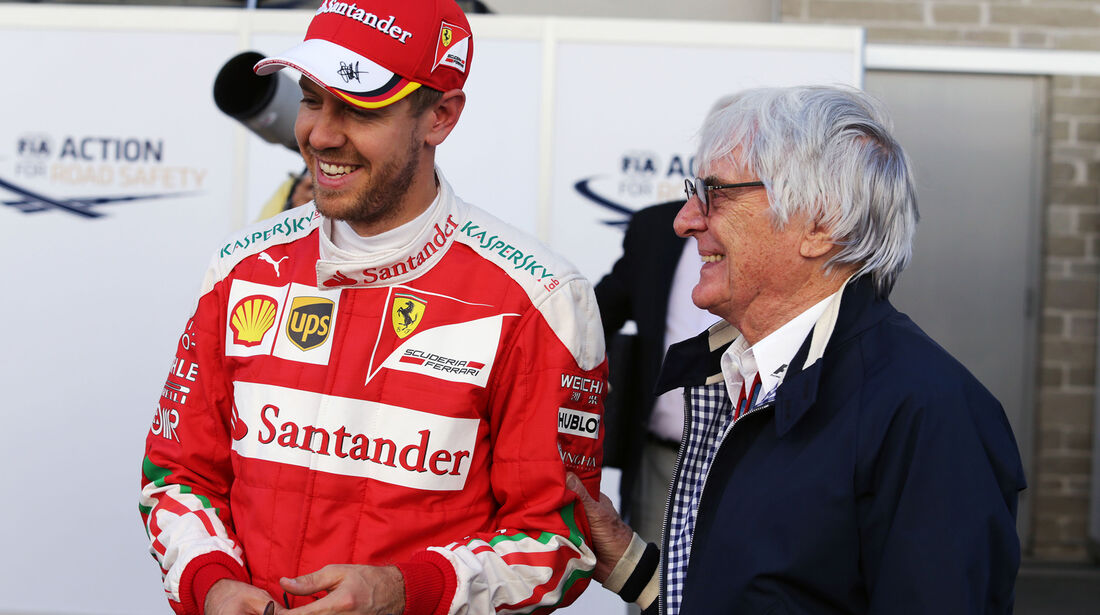 Vettel & Ecclestone - Formel 1 - Austin - GP USA - 22. Oktober 2016