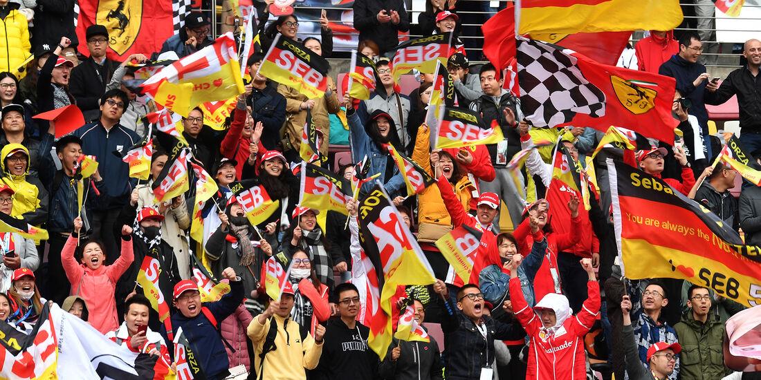 Vettel-Fans - Formel 1 - GP China - Shanghai - 14. April 2018