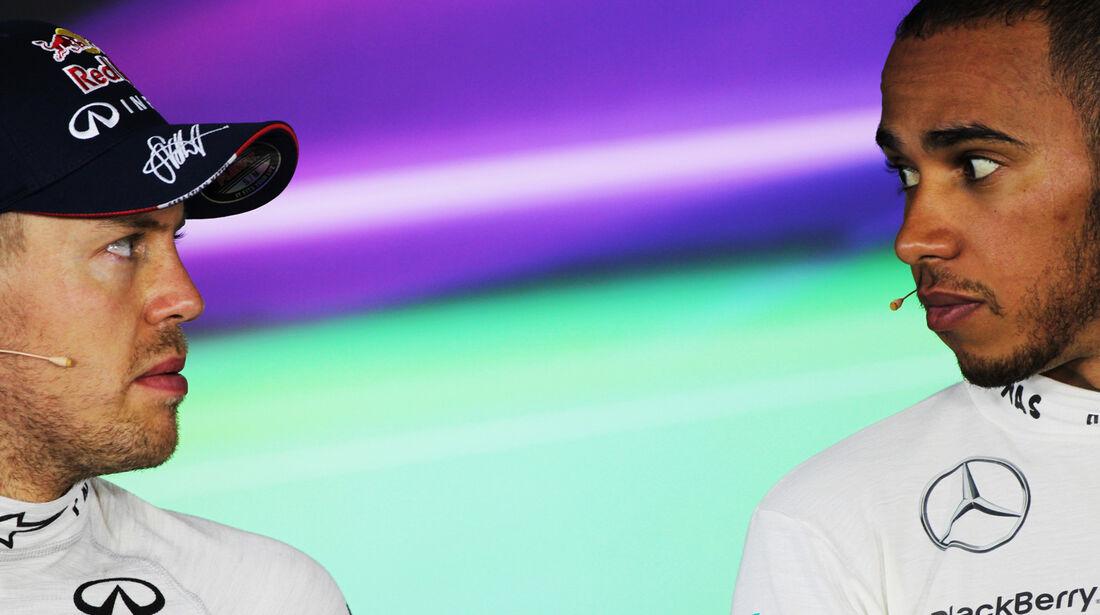 Vettel & Hamilton - Formel 1 - GP Ungarn - 27. Juli 2013