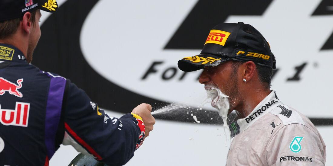 Vettel & Hamilton - GP Malaysia 2014