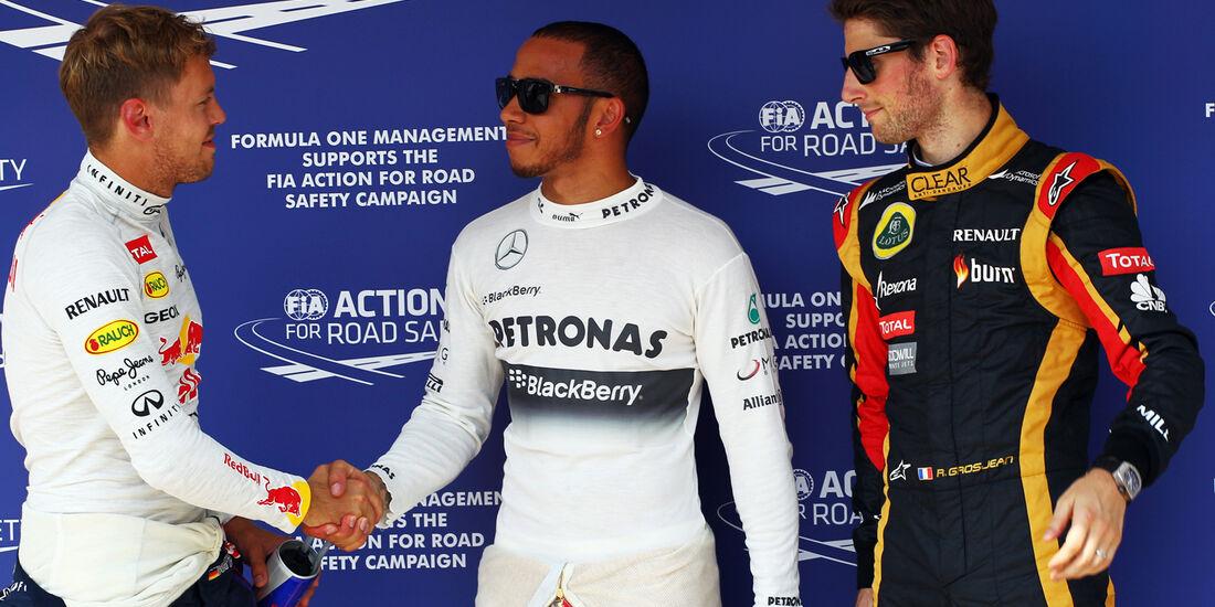 Vettel, Hamilton & Grosjean - Formel 1 - GP Ungarn - 27. Juli 2013