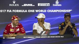 Vettel, Hamilton & Ricciardo - GP Abu Dhabi 2017