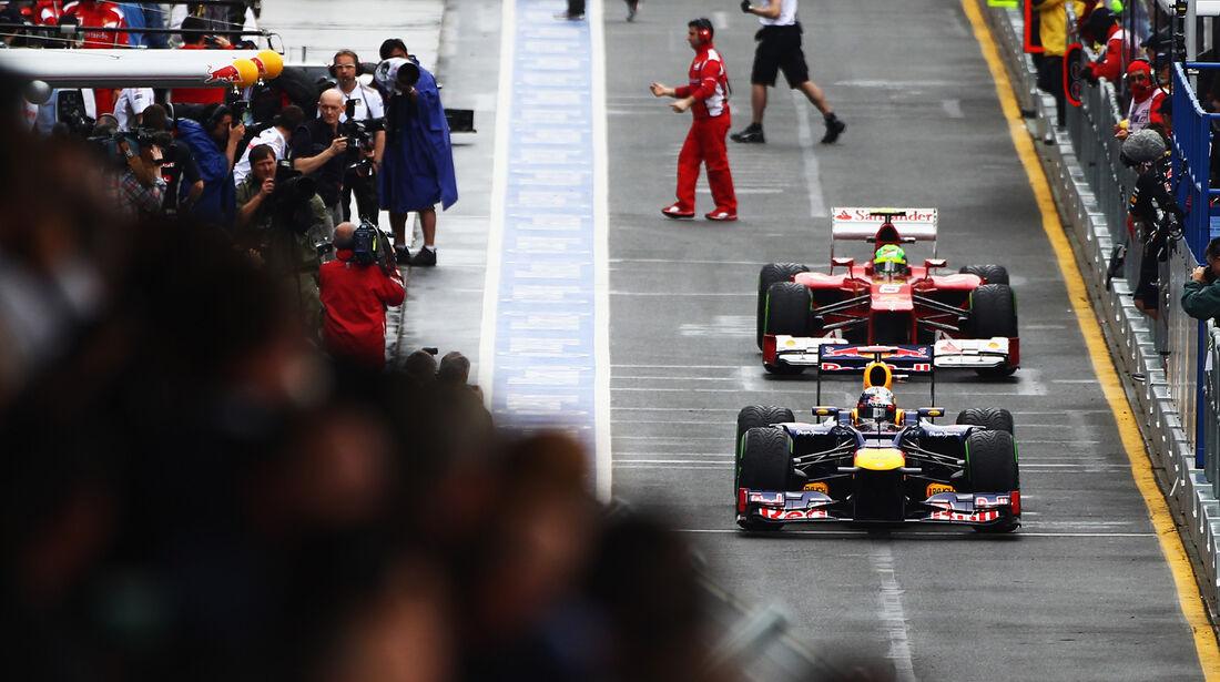 Vettel & Massa - GP Australien - Melbourne - 16. März 2012