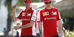 Vettel & Räikkönen - Ferrari - Formel 1 - GP Malaysia - 28. März 2015