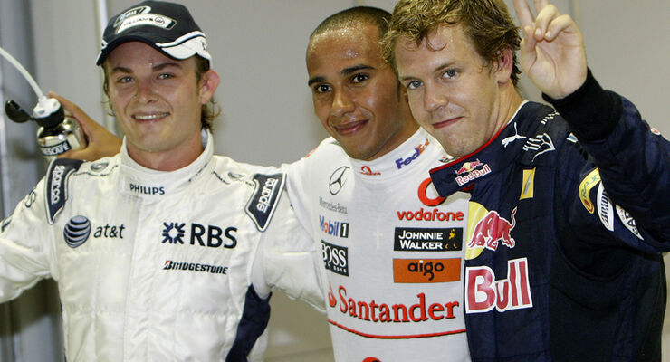 Vettel und Rosberg