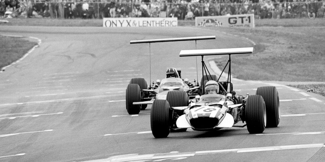 Vic Elford - Cooper T86B - Graham Hill - Lotus 49B - GP USA 1968 - Watkins Glen