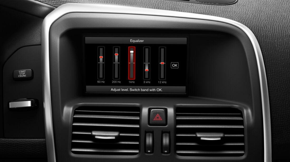 Volvo V60, Detail, Hifi-Anlage
