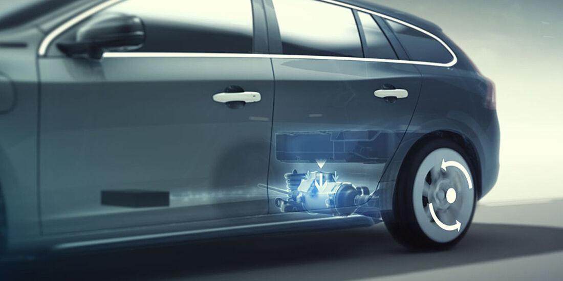 Volvo V60 Diesel-Plug-in-Hybrid, Elektrischer Allradantrieb