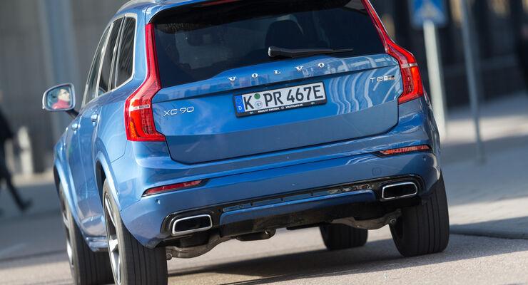 Volvo XC90 T8, Heckansicht