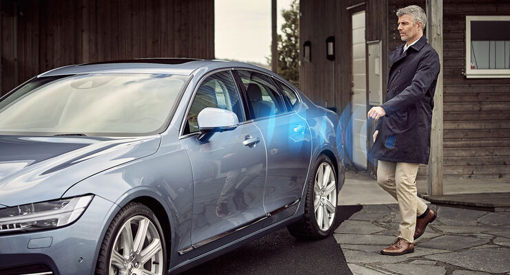 Volvo schlüsselloser Zugang Smartphone