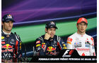 Webber, Vettel & Button - GP Brasilien - 26. November 2011