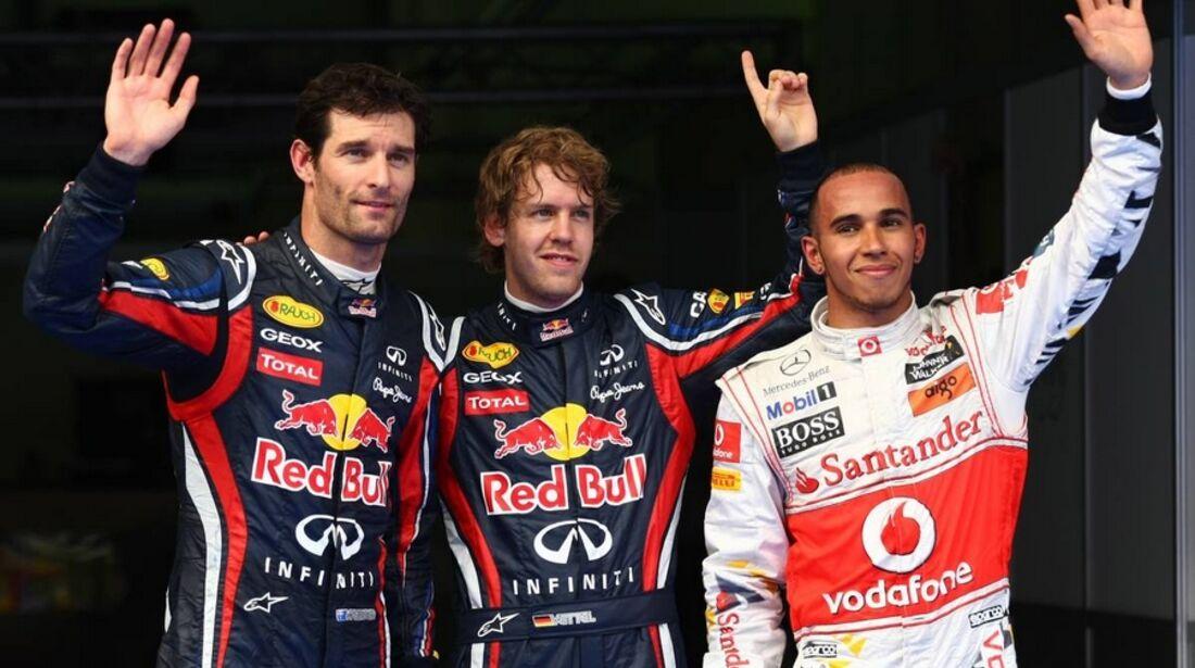 Webber Vettel Hamilton GP Malaysia 2011 Formel 1