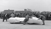 Weltrekordfahrt 1939, Seitenansicht