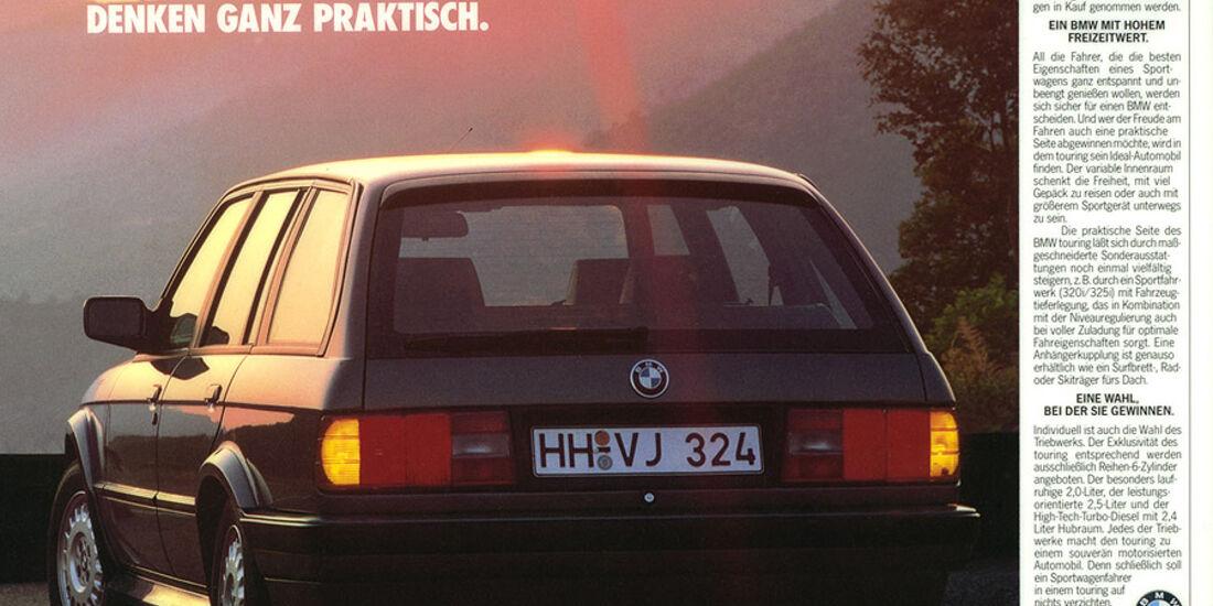 Werbeanzeige - BMW 3er Touring - E30 - Heckansicht