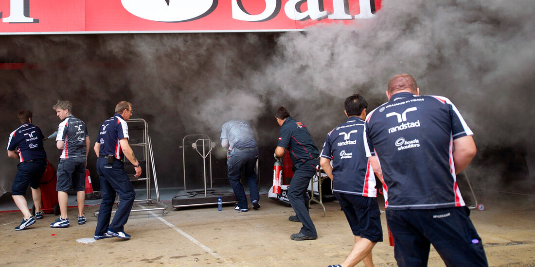 Williams Feuer GP Spanien 2012