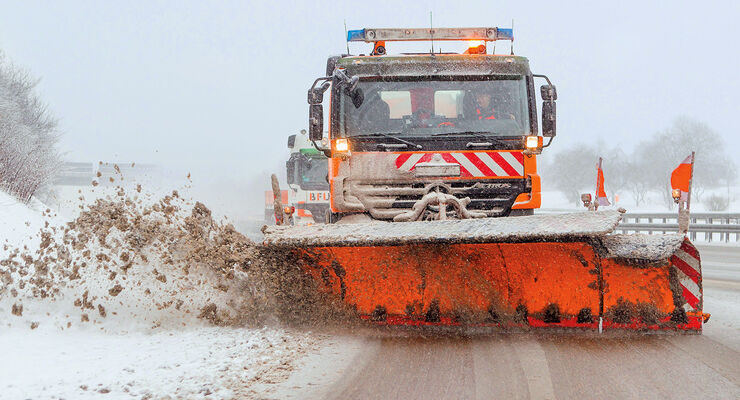 Winterdienst, Autobahn, Räumwagen