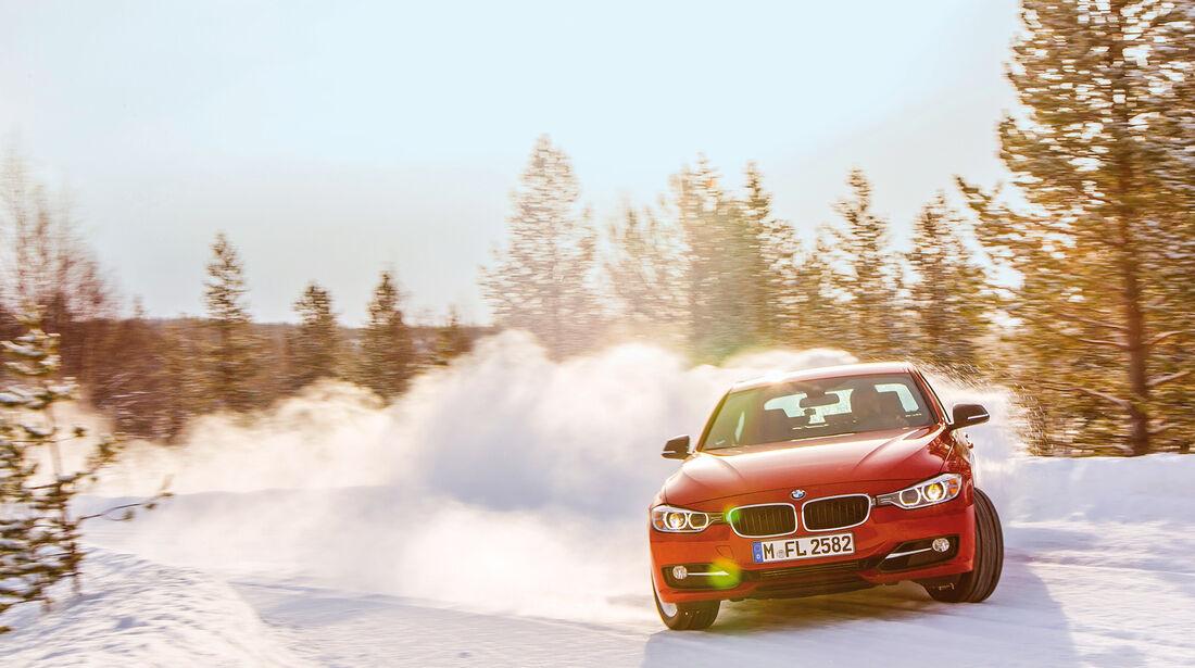 Winterreifen, Driften, BMW 330d