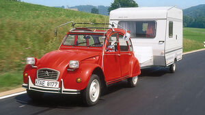 Wohnwagen-Check, Ente, Citroen CV