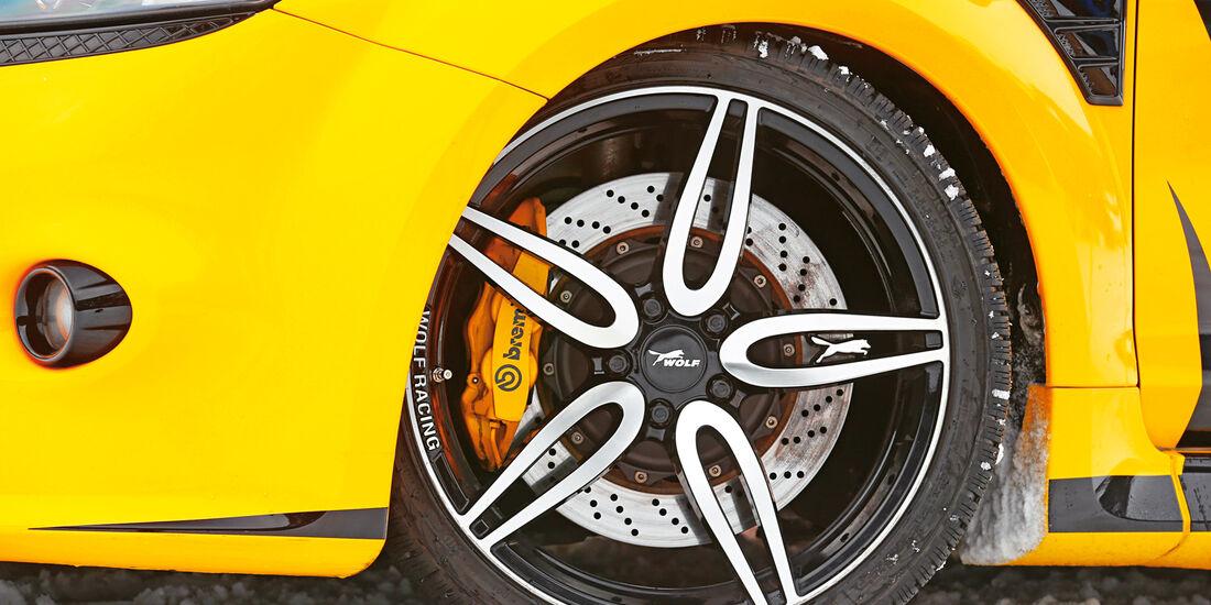 Wolf-Ford Focus RS, Rad, Felge, Bremse