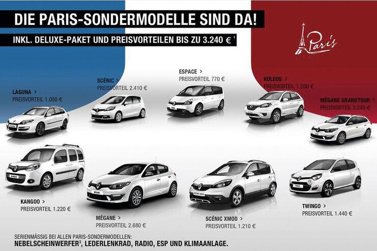 asv 1814, Rabatte der Hersteller, Renault Sondermodelle