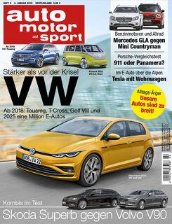 auto motor und sport 2/2018 - neues Heft - Titel