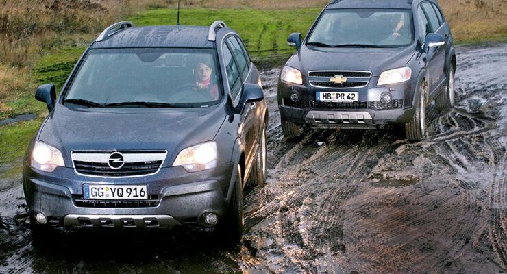 Vergleichstest Zwischen Opel Antara Und Chevrolet Captiva Auto