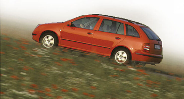 skoda fabia combi 1.4 16v comfort im fahrbericht - auto motor und sport