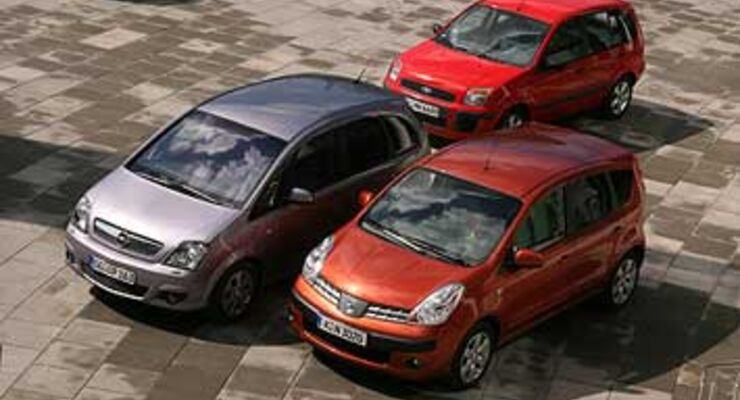 nissan note, ford fusion, opel meriva: in hoch-form - auto motor und