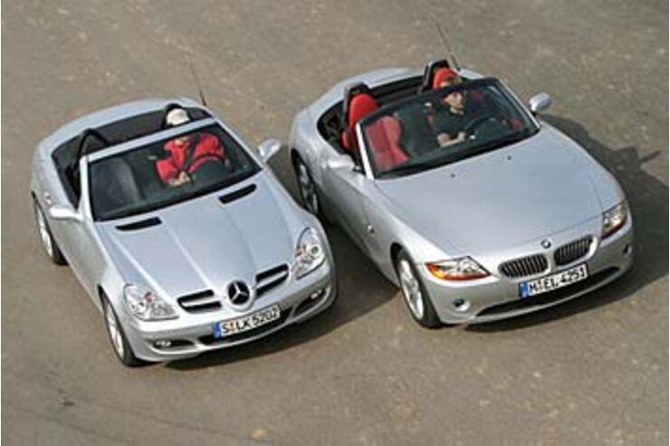 doppeltest bmw z4 gegen mercedes slk 350 seite 2 auto motor und sport. Black Bedroom Furniture Sets. Home Design Ideas