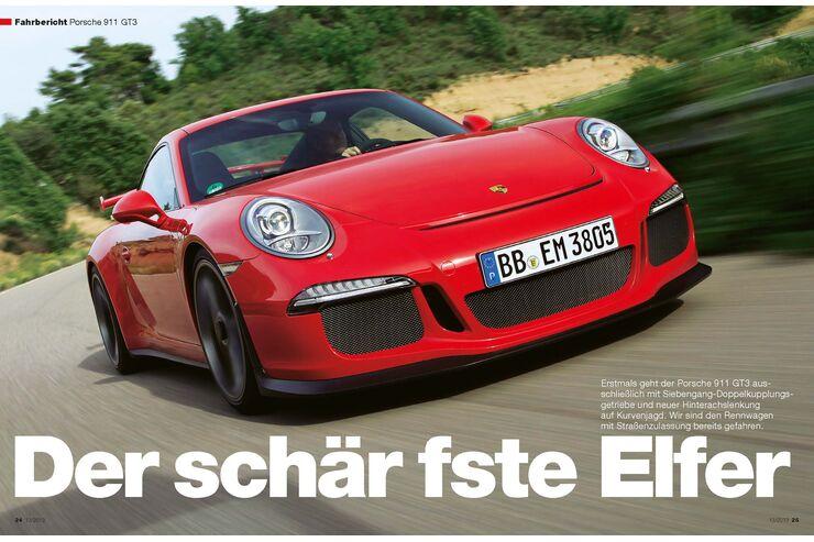 fahrbericht porsche 911 gt3 auto motor und sport. Black Bedroom Furniture Sets. Home Design Ideas