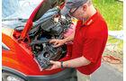promobil Megatest 2014, Basisfahrzeuge, Ford Transit, Scheinwerferwechsel