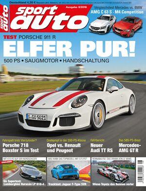 sport auto 8/2016 - Cover