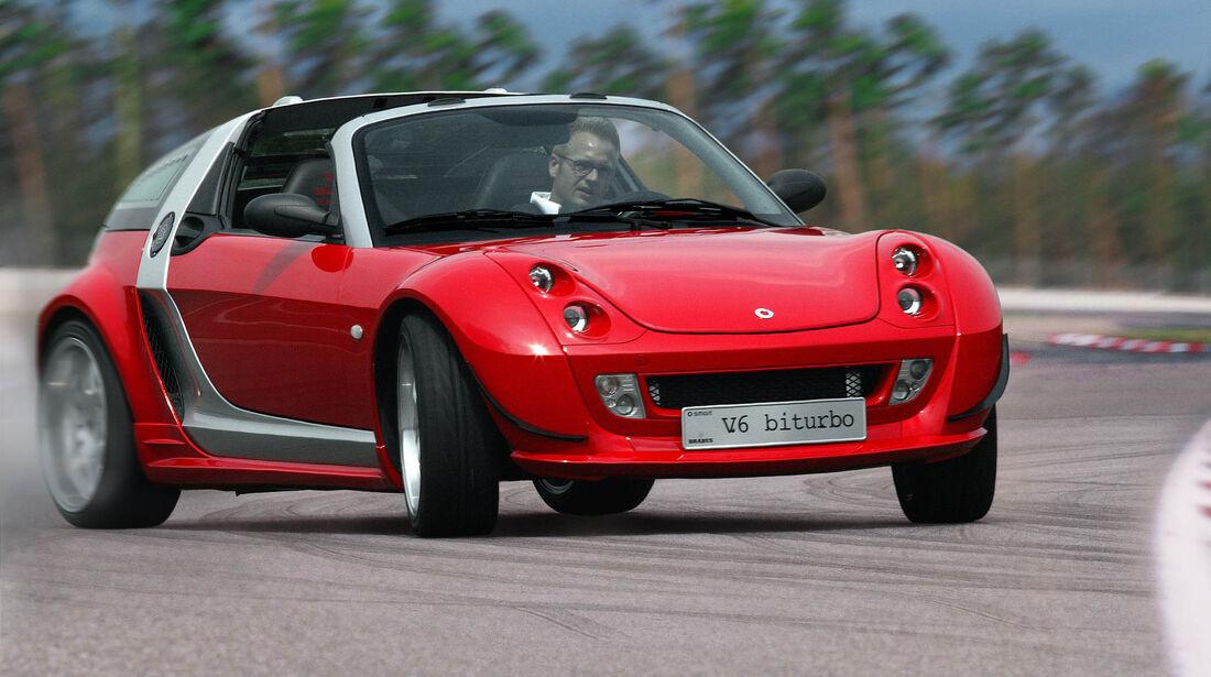 sport auto-Exotendeals bis 15.000 Euro, Gebrauchtwagen-Spezial, 04/2016, Brabus-Smart Roadster V6