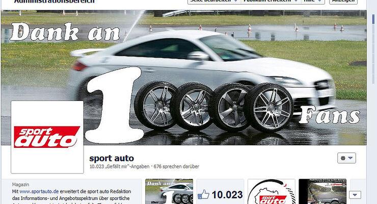 sport auto Facebook-Fan-Seite 2013